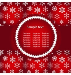 Abstract winter red background with sample text vector image