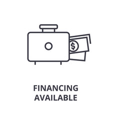 financing available line icon outline sign vector image vector image