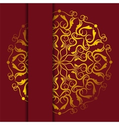 Gold card vector image vector image