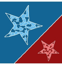 Mosaic doodle star vector image vector image