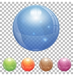 Transparent Glass Ball vector image vector image