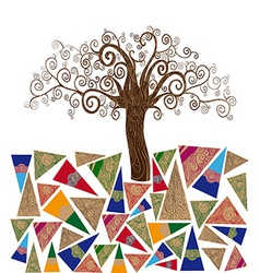 Art tree concept vector image