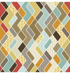 geometric patchwork pattern vector image vector image
