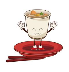 kawaii sushi oriental food japanese platter and vector image vector image