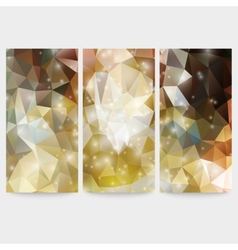 Set of colored abstract backgrounds triangle vector image