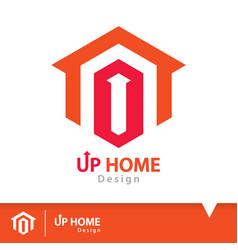 Up home icon symbol vector