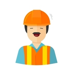 Worker construction builder vector image