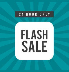 24 hour only flash sale square frame blue backgrou vector image