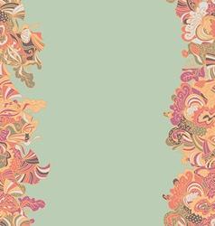 Abstract seamless hand-drawn border vector image