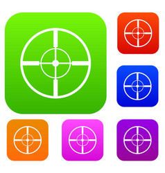 aim set collection vector image