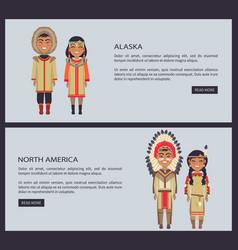 alaska and north america web vector image