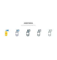 Anesthesia icon in different style two colored vector