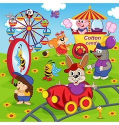 Animals in amusement park vector