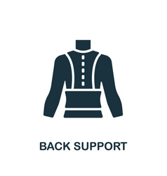 Back support icon simple element from trauma vector