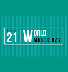 Background of world music day collection vector