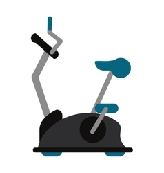 Bike static machine fitness gym vector