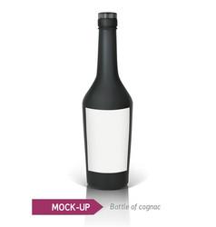 Black bottle of cognac vector