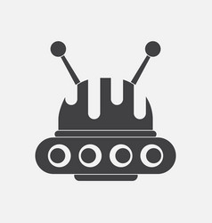 Black icon on white background flying saucer vector