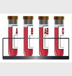blood group samples vector image