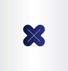 blue letter x logotype vector image