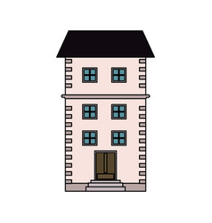 brick house or home icon image vector image