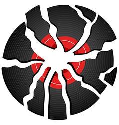 broken record vector image