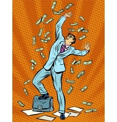 Businessman Finance money fall vector image