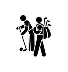 caddy black glyph icon vector image