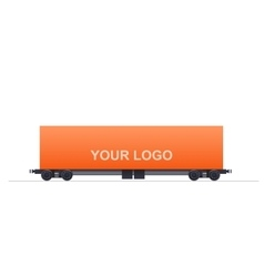 Cargo Train Unit vector image