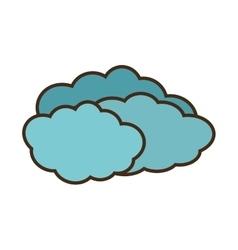 Cartoon travel cloud weather concept vector