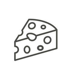cheese icon line milk product symbol isola vector image
