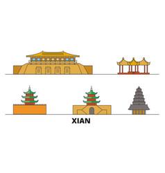 china xian flat landmarks vector image