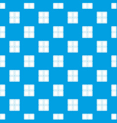 chocolate piece pattern seamless blue vector image