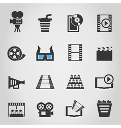 Cinema icons4 vector image