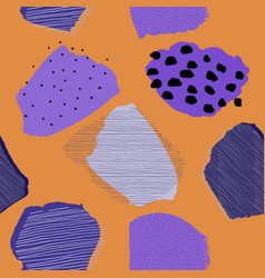 Collage contemporary abstract berries seamless vector