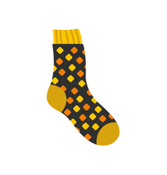 Cotton sock icon flat style vector