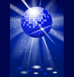 Dance club party background with disco ball vector