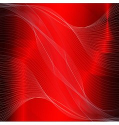 Dark red line wave background vector