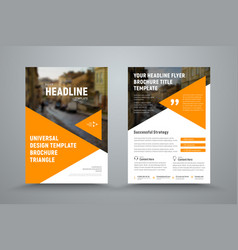 Design flyer with triangles and a place for a vector
