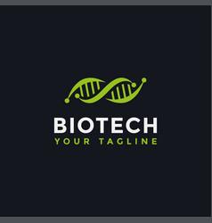 Dna genetic logo design template vector