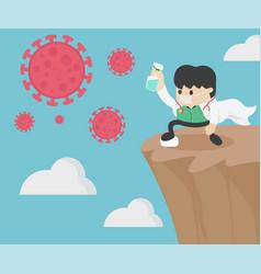 Doctor fight virus concept coronavirus covid-19 vector