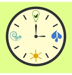 Eco energy clock vector