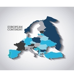 European continent design vector