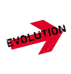 evolution rubber stamp vector image