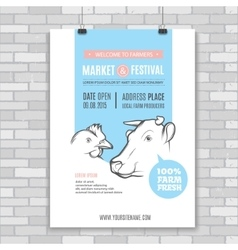 farm Poster vector image