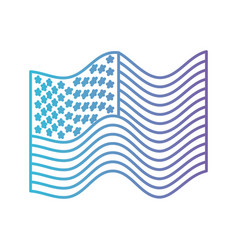 flag united states of america waving in color vector image