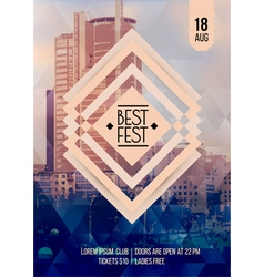 Flyer template for Best festival vector