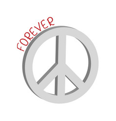 Forever peace symbol concept vector