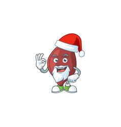 friendly liver santa cartoon character design vector image