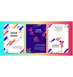futuristic pastel set template with geometric vector image